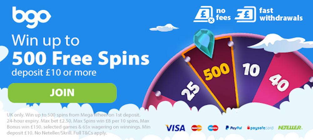 BGO 500 Free Spins