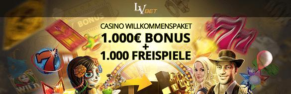 LVbet Casino Willkommens Bonus Freispiele