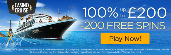 Casino Cruise UK New Player Bonus