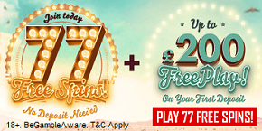 777 Casino Free UK Bonus