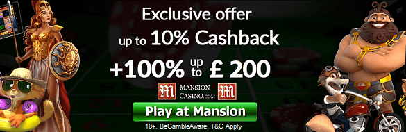 Mansion Casino Cash Back UK