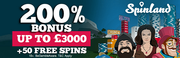 Spinland UK Casino Bonus