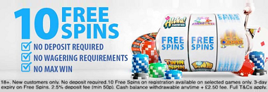 BGO Casino 10 Free Spins Bonus